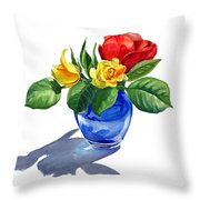 Red Yellow And Blue Throw Pillow