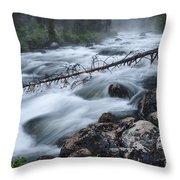 Redfish Creek In Stanley Idaho Throw Pillow