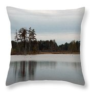 Reflected Trees Throw Pillow