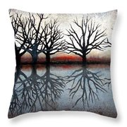Reflecting Trees Throw Pillow