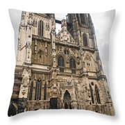 Regensburg Cathedral Throw Pillow