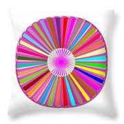 Colorful Signature Art Chakra Round Mandala By Navinjoshi At Fineartamerica.com Rare Fineart Images  Throw Pillow by Navin Joshi