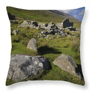 Remains Of Slievemore Village Throw Pillow