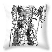 Remington Cowboy, 1887 Throw Pillow