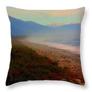 Remote New Zealand Beach Throw Pillow