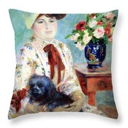Renoir's Mlle Charlotte Berthier Throw Pillow