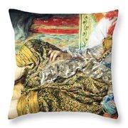 Renoir's Odalisque Throw Pillow