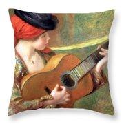 Renoir's Young Spanish Woman With A Guitar Throw Pillow