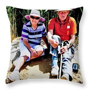 Rest Stop At Coorong Throw Pillow