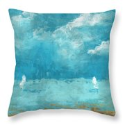 Restless Waters Throw Pillow