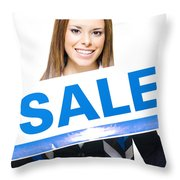 Retail Sale Throw Pillow