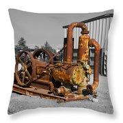 Retired Petroleum Pump Throw Pillow