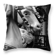 Retro Carousel Throw Pillow