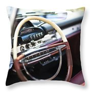 Retro Dashboard Throw Pillow