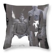 Revolutionary Couple In Studio Unknown Location 1915-1920-2014 Throw Pillow