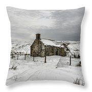 Ribbledale Derilict Throw Pillow