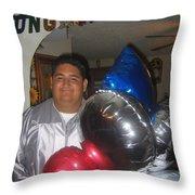Ricardo Celebrating His High School Graduation Eloy Arizona 2002 Throw Pillow