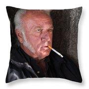 Rick At The Old Santa Fe Prison Throw Pillow