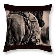 Riding For The Brand Throw Pillow
