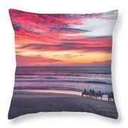 Riding In The Sunset Throw Pillow