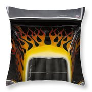 Riding The Flame Throw Pillow