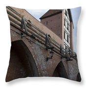 Riga Old City Walls Throw Pillow