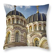 Riga Orthodox Cathedral Throw Pillow