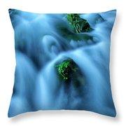 Rio Escabas In The Strait Of Priego De Throw Pillow