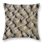 Ripple Pattern On Mudflat At Low Tide Throw Pillow