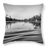Ripples On The Saltwater Lagoon Throw Pillow