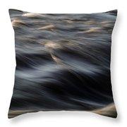 River Flow Throw Pillow by Bob Orsillo