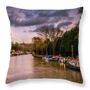 River Medway Throw Pillow