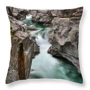 River With A Roman Bridge Throw Pillow