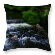 River Wye Waterfall - In Bakewell Peak District - England Throw Pillow