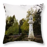 Roath Park Lighthouse Throw Pillow