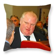 Rob Ford Throw Pillow