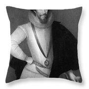 Robert Devereux (1566-1601) Throw Pillow