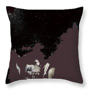 Robert Mitchum Head Down Collage Number 3 Young Billy Young Set Old Tucson Arizona 1968-2012 Throw Pillow
