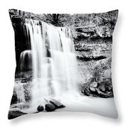 Rock Glen Falls Throw Pillow