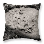 Rock Of Ages Throw Pillow by Donna Blackhall