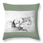 Rocks At Narragansett Throw Pillow