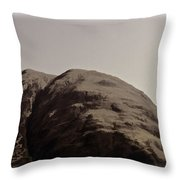 Rocky Hill In The Scottish Highlands Throw Pillow