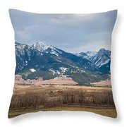 Rocky Mountains In Montana Throw Pillow
