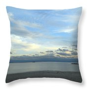 Rocky Neck Beach Throw Pillow