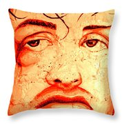 Rocky On Wall Throw Pillow