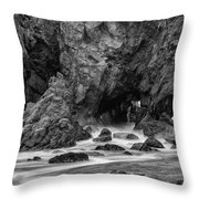 Rocky Surf 2 Throw Pillow