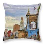 Roebling Bridge 9872 Throw Pillow