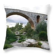 Roman Arch Bridge Pont St. Julien Throw Pillow