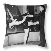 Romanian Princess Irene Bogdan Throw Pillow by Underwood Archives
