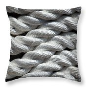 Rope Pattern Throw Pillow by Yali Shi
